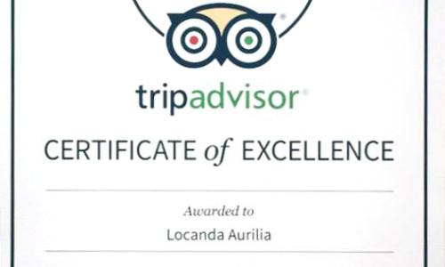 Certificato di Eccellenza 2015 Tripadvisor